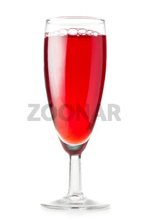 glass with red liquid