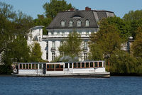 Alster lake steam ferry boat