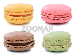 Set Macarons Macaroons Kekse Nachtisch Dessert aus Frankreich Freisteller