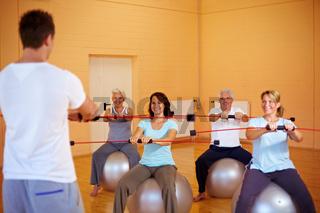 Fitnesstraining mit Flexibar