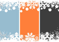 Set Of Winter Christmas Holiday Snowflakes Background