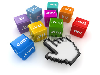 Color cubes with domain names