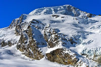 The snow-covered Alphubel mountain, Saas-Fee, Valais, Switzerland