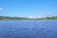 Lake Haidenweiher in Westerwald Lake region,Rhineland-Palatinate,Germany