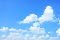 Cumulus clouds with copyspace