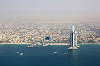 Dubai Burj Al Arab Hotel Luftaufnahme Luftbild