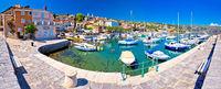 Idyllic mediterranean waterfront in Volosko village panoramic view