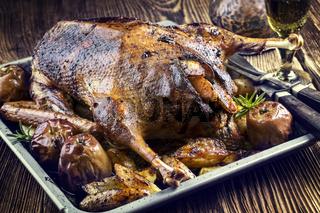 Roast Goose with Potatoes