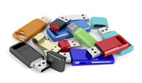 Bunch of usb flash drives