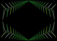 abstract fractal leaf