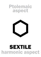 Astrology: SEXTILE (aspect)