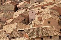 Old roofs of Albarracin, Aragon, Spain.