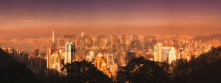Hong Kong skyline from the Victoria Peak