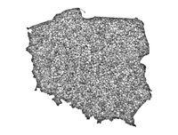 Karte von Polen auf Mohn - Map of Poland on poppy seeds