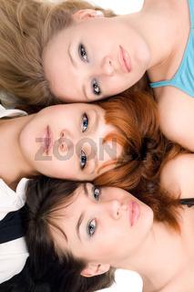 Three thoughtful women