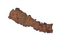 Karte von Nepal auf rostigem Metall - Map of Nepal on rusty metal