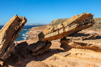 Pot Alley - scenic rock formations along the coastline,  Kalbarri National Park, Western Australia