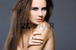 Portrait of the beautiful sweet woman