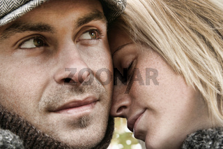 Young couple in love embrasing
