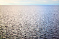 Perspective of sea water surface