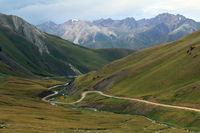 Kalmak Ashuu Pass (3446 m) at Lake Song Kul, Central Kyrgyzstan