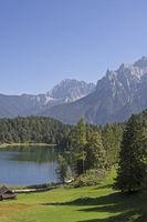 lake  Lautersee at Mittenwald