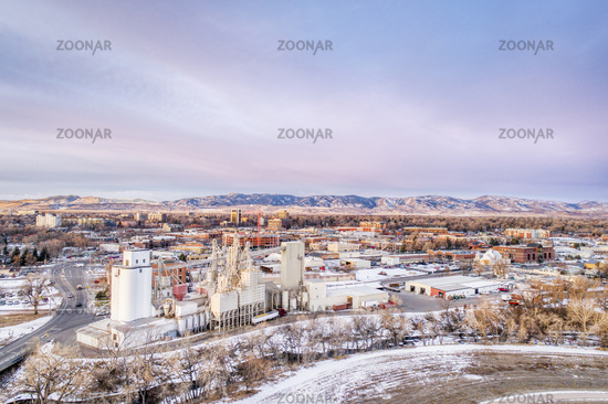 Fort Collins aerial cityscape