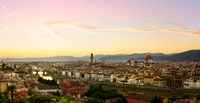 Firenze summer sunset