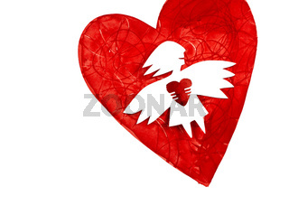 Angel of love with heart