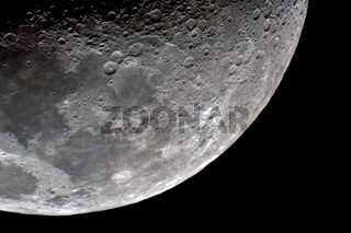 Mond -Teilansicht - part of moon