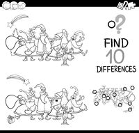 christmas differences for coloring