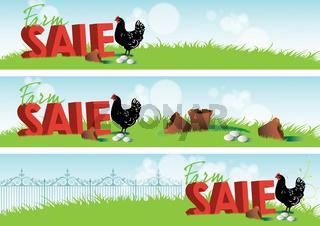 Farm Sale Banners