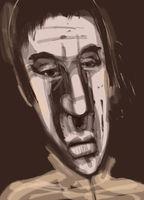 man face digital drawing