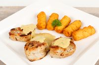 pork fillet with potato croquettes