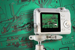 Industrial circuit board testing with digital camera