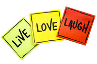 live, love, laugh - reminder notes