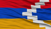 Closeup Nagorno Karabakh Flag