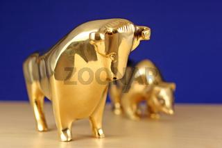 Bulle und Baer - bull and a bear
