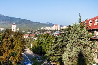 Baglikov Street in Alushta city in morning