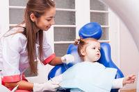The boy in dental office