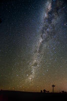 Beautiful night skies milky way over outback NSW