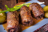 baked beef Roulades with delicious fillings