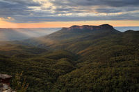 Blue Mouintains Australia with Mount Solitary scenic view