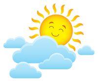 Happy sleeping sun theme image 1