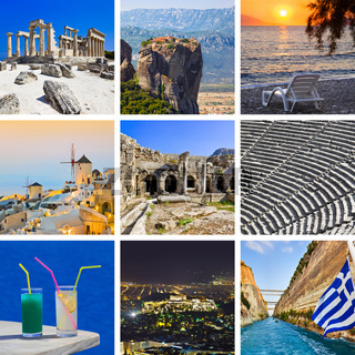 Collage of Greece travel images