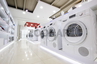 Home appliance in the store showroom