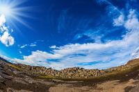 Huge stones on the plateau