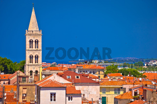 Historic Zadar skyline and rooftops view