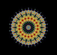 Abstract radial color shape