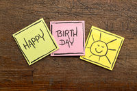 Happy Birthday greeting card or banner